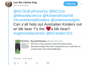 Leo the Library Dog on Twitter NCSUExtForestry NCZoo lifeandscience KindersRosehill XcontinentalKinders underwoodgtm Can