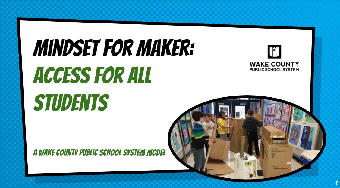 Mindset for Maker Slide Presentation